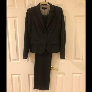Ann Taylor Classic 2 Button Grey Suit